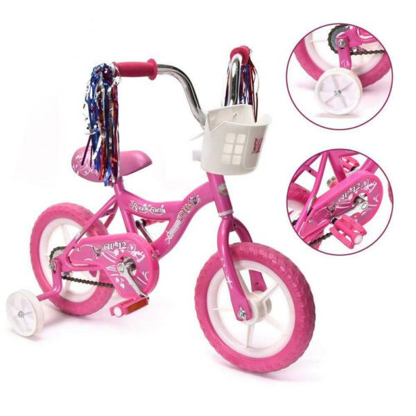 Wonderplay BMX 12quot; Kids Bike for 2 4 Years Old Bicycle for Girls with Basket $64.48