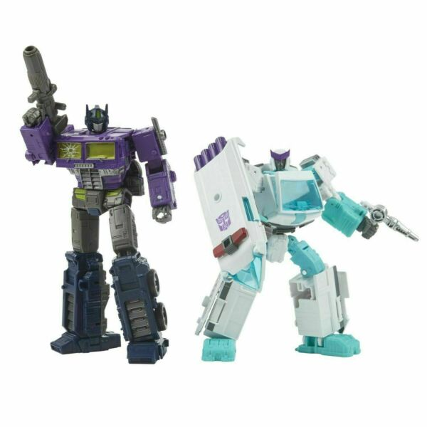 Transformers NEW * Shattered Glass Optimus Prime and Ratchet * WFC GS17
