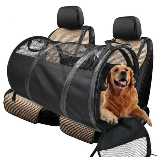 Dog Carriers Rear Back Pet Car Seat Cover Hammock Protector Safety Belt D1795 $79.99