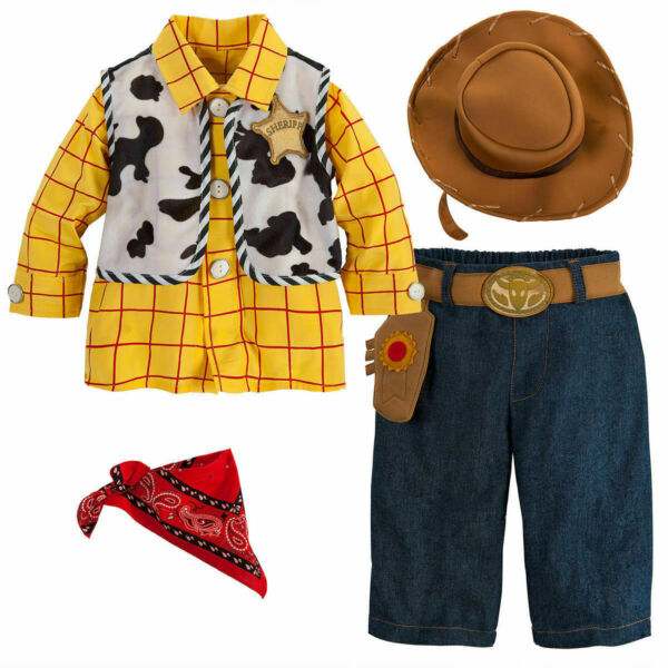 NWT DISNEY STORE TOY STORY WOODY BABY COSTUME SET 12 18 Months
