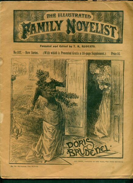 THE ILLUSTRATED FAMILY NOVELIST C.1880 97. 31 PAGES DORIS BRUDENEL Cost 1p GBP 9.50