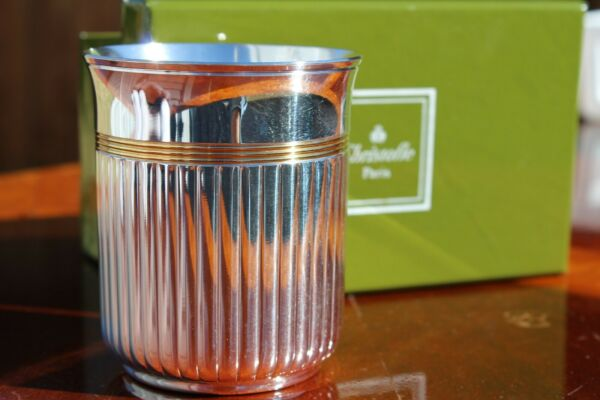 Christofle Aria Gold Silver Plated Cup Kiddush Cup