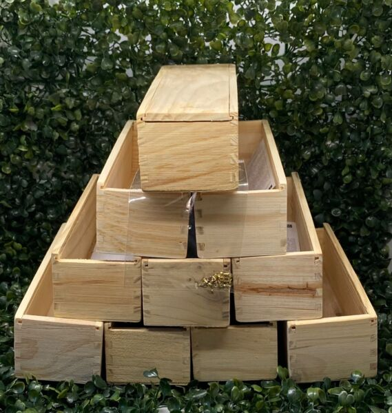 Empty Domino Wood Box with Spinners