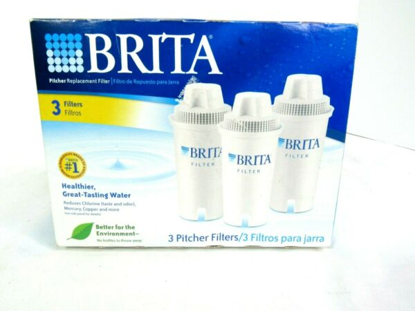 BRITA 3 PACK PITCHER REPLACEMENT FILTERS NEW IN BOX FACTORY SEALED MODEL #OB03