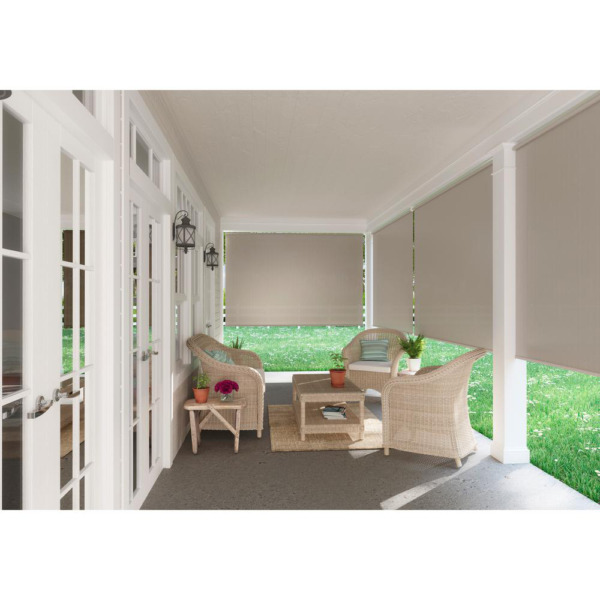 Window Sun Shade Blind Roller Roll Up Exterior Cordless Patio Outdoor Porch NEW $63.22