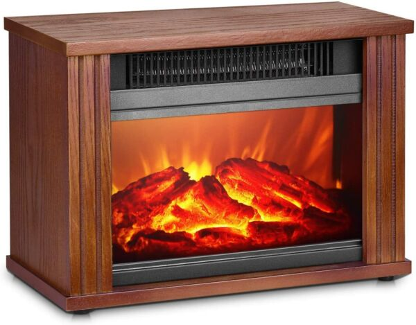 Electric Fireplace Heater Fireplace Space Heater with 3D Flames Effect Wood #13