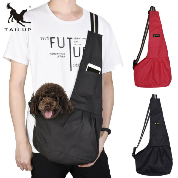 TAILUP Outdoor Pet Dog Sling Bags Windproof Carriers For Small Cats and Puppies $12.95