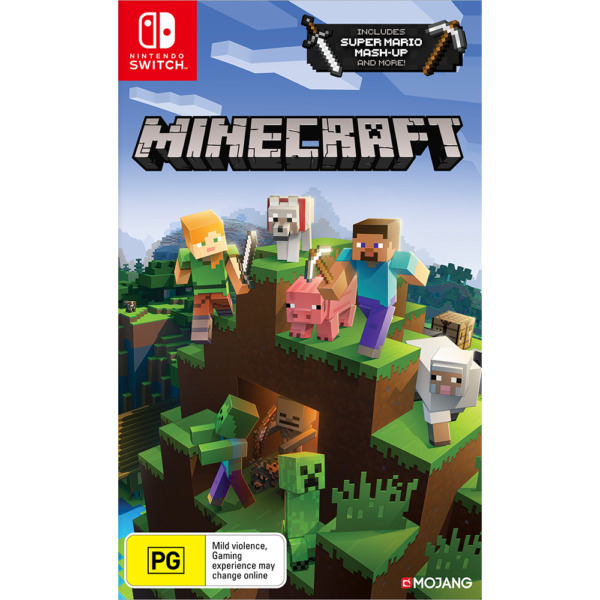 Minecraft Nintendo Switch and Switch Lite Includes Super Mario Mash Up New