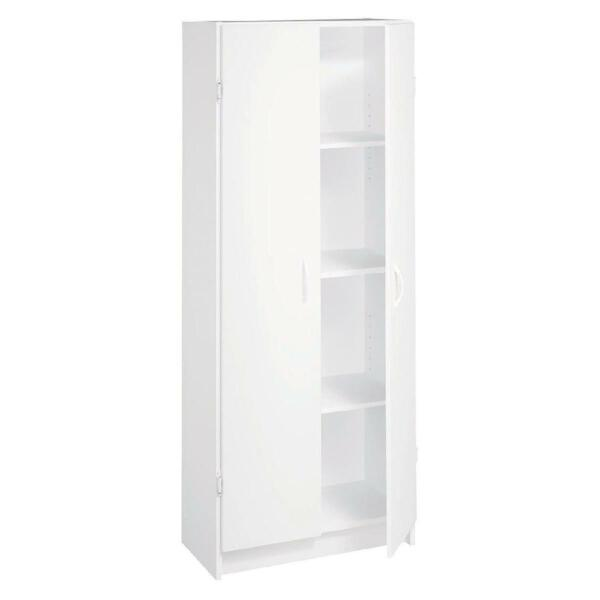 Pantry Cabinet Storage Kitchen Laundry Cupboard Tall Wood Organizer Shelves