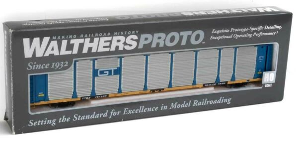 Walthers Proto 920 101335 GTW Grand Trunk Western 89#x27; Thrall Bi Level Auto Rack $57.85