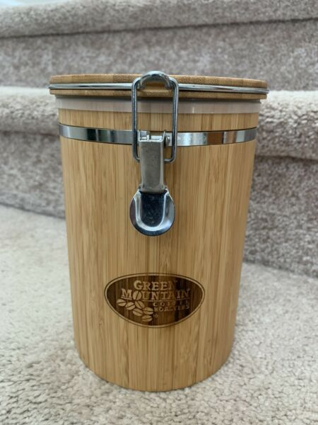 Green Mountain Coffee Roasters Wooden Canister Coffee Bean Keurig