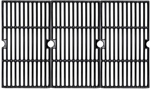 BBQMall Porcelain Enameled Cast Iron Grill Cooking Grates for Charbroil