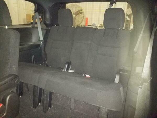 2008 2018 DODGE GRAND CARAVAN 3rd Third Row Rear Seat Black Bench Cloth