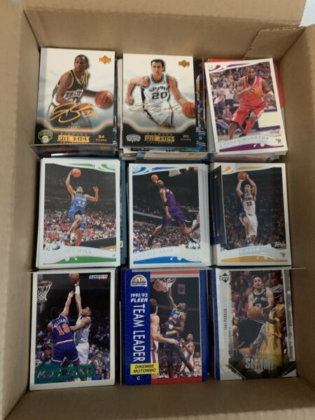 4000 Old And New Basketball Baseball Football Cards In A Large box Rookies HOF
