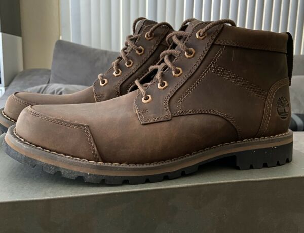 TIMBERLAND MEN#x27;S LARCHMONT CHUKKA DK BROWN FULL GRAIN SIZE 9.5 ORTHOLITE $55.00