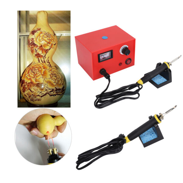 Wood Burning Kits Tool Adjustable Temperature Pyrography Gourd Board Solder Iron