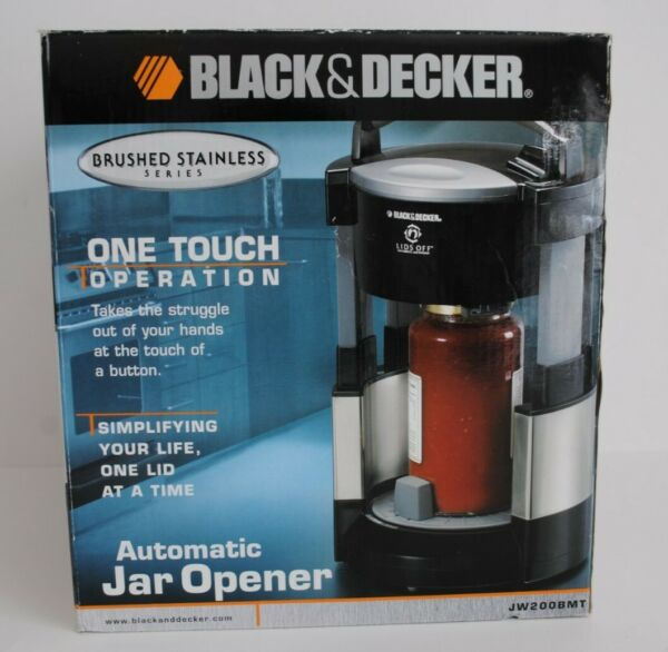 Black amp; Decker Lids Off Automatic Jar Opener JW200BMT Brushed Stainless Series