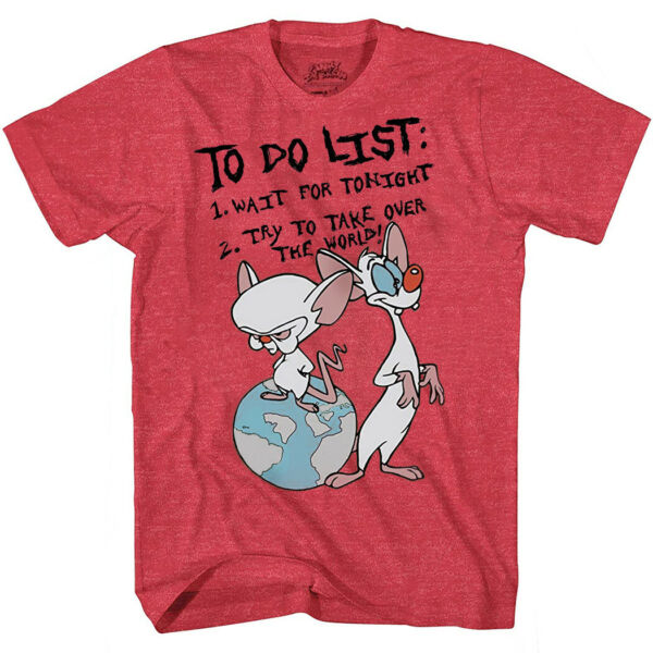 Pinky and the Brain To Do List T Shirt $19.99