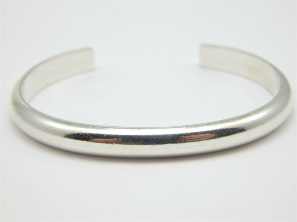 GW STERLING HAND WROUGHT STERLING SILVER HIGH POLISH CUFF BRACELET 5.25quot; 1quot; GAP