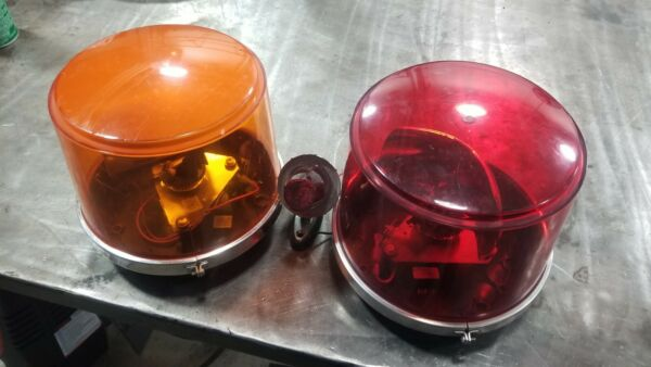 SET OF FEDERAL SIGNAL model 443112 12 volt series B RED Orange Strobe
