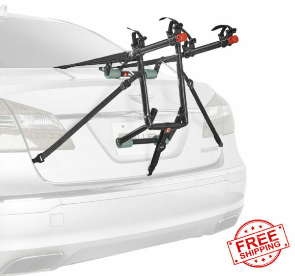 Trunk Mounted Car Bike Rack Carrier 2 Bicycle Transport Holder Travel Heavy Duty $53.99