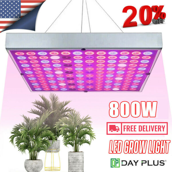 8000W LED Grow Light Full Spectrum Indoor Hydroponic Veg Flower Plant Lamp Panel