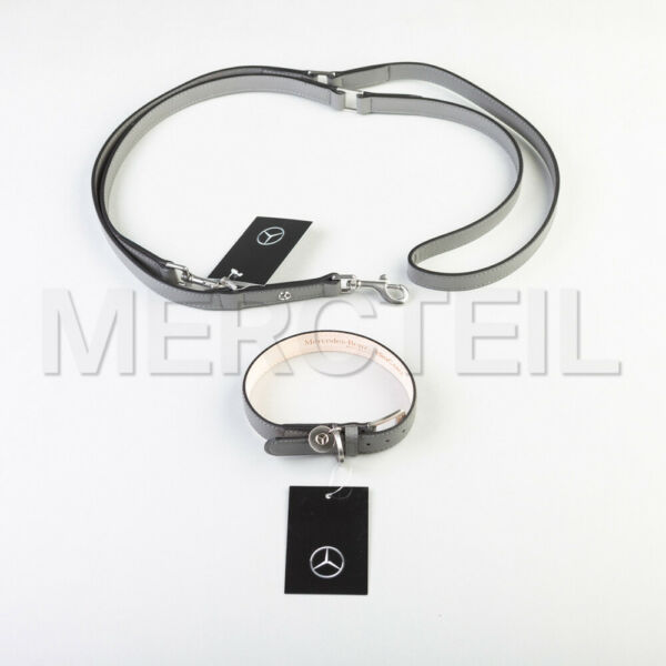 New Genuine Mercedes Dog leather collar and leash by MiaCara $319.00