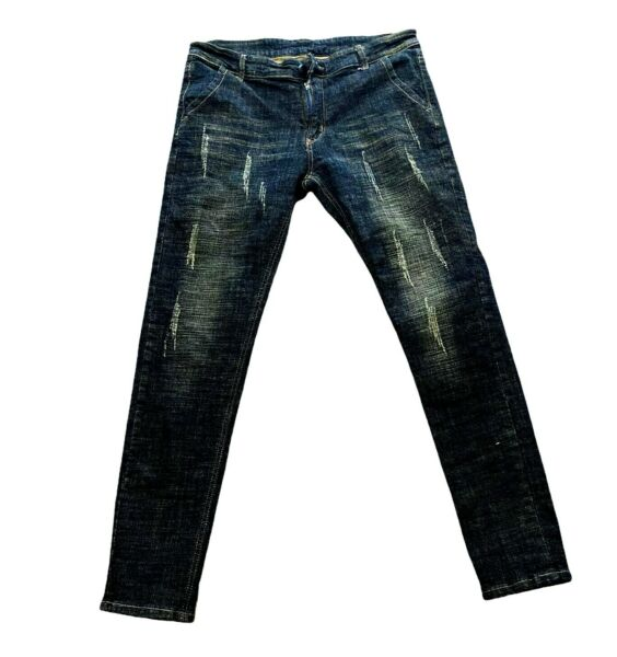 DSquared Men#x27;s Distressed Chino Skinny Jeans Size 34 Charcoal Gray $24.99
