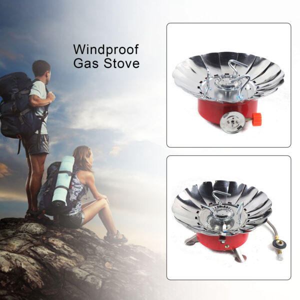 2800BTU Portable Windproof Camping Gas Stove Outdoor Cooking Butane Gas Burner