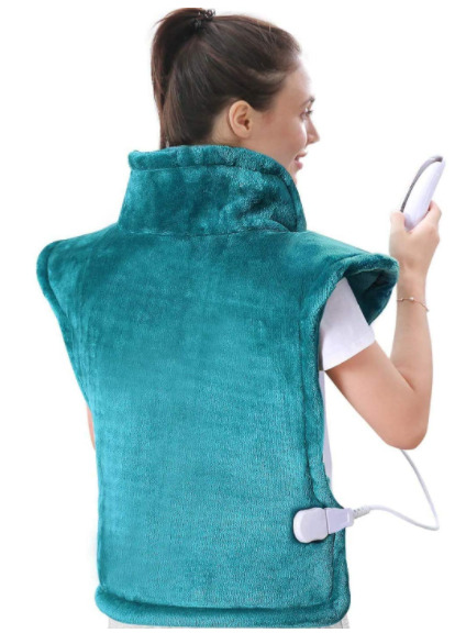 Extra Large Calming Heat Massaging Weighted Fast Heating Pad 5 Heat Settings $52.16