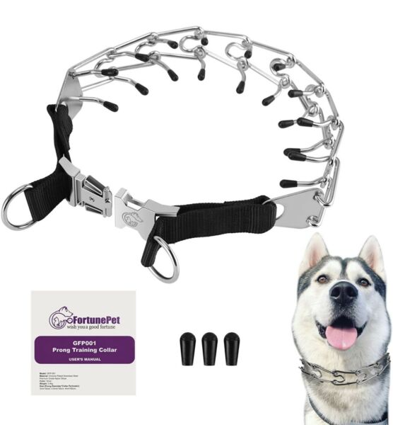 Prong Dog Collar Safe Stainless Steel Spiked Collars used for No Pull Behavior $28.98