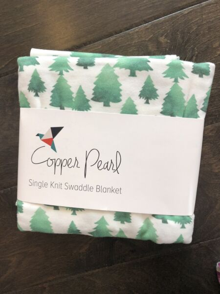 Copper Pearl Baby Tree Swaddle Blanket