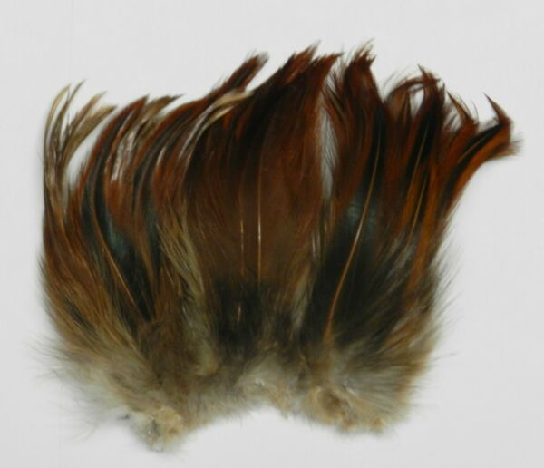 1 4 OZ. STRUNG NATURAL FURNACE NECK HACKLE 4 TO 6 INCH FEATHERS FLY amp; JIG TYING $3.49