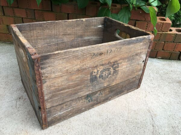Vintage Wooden Beer Crate Pabst Brewing Milwaukee Wisconsin Wood Brewery Box
