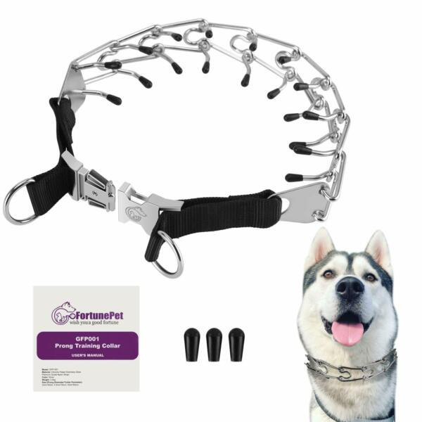 Gofortunepet Prong Dog Collar Safe Stainless Steel Spiked Collars used for No... $17.99