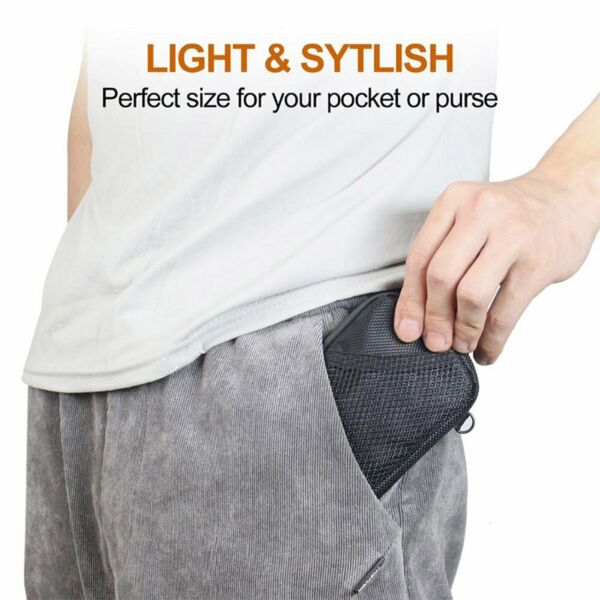 Nylon Mini Tobacco Activated Carbon Odor proof Storage Bag with Lanyard YZH $9.87