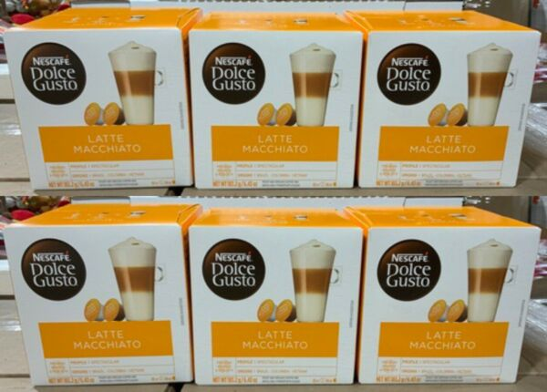 48 Pods Nescafe Dolce Gusto Coffee Capsules Latte Macchiato Flavor BEST BY 3 21