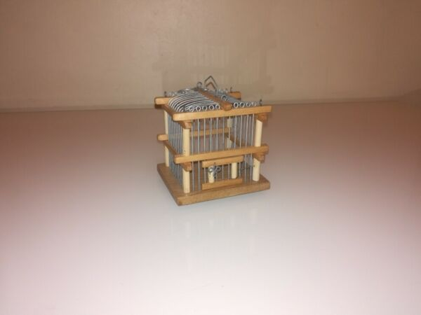 Wood in Cricket Cage New Hand Made $14.00