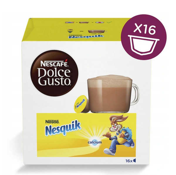 NESCAFE DOLCE GUSTO CAPSULES NESQUIK 16 PODS = 16 COCOA DRINKS FOR KIDS