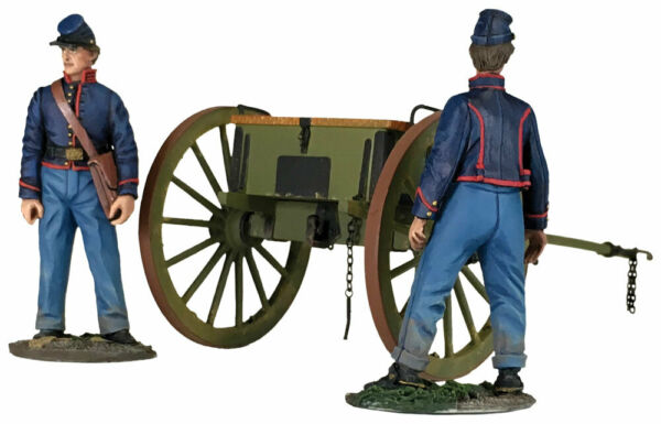 W. Britain American Civil War Federal Light Artillery Limber with 2 Crew 31291