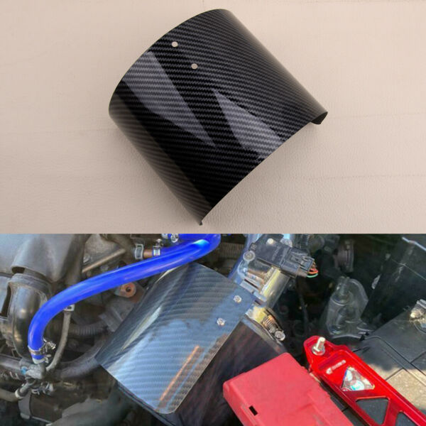 1x Carbon Fiber Style Air Intake Filter Heat Shield Cover 2.5quot; 3.5quot; Universal $24.79
