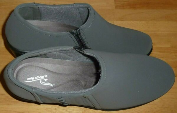 Easy Street Women#x27;s Size 9W Comfort Shoes Gray Black Sole amp; Heel Pre owned $22.99