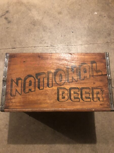 Vintage Antique Wooden National Beer Crate Natty Boh Baltimore Md