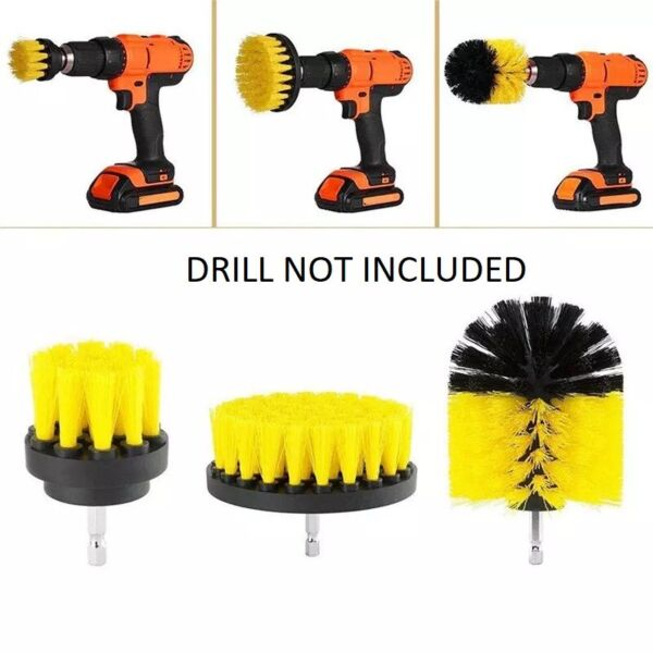 3PCS Drill Brush Power Scrubber Drill Attachments For Carpet Tile Grout Cleaning $8.75