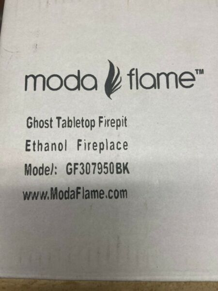 Moda Flame GF307950BK Ghost Tabletop Firepit Ethanol Fireplace Black FREE SHIP