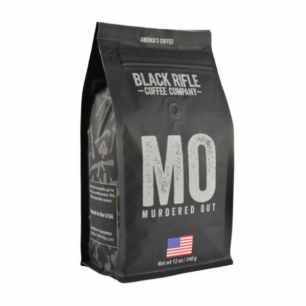 Black Rifle Coffee Whole Bean Murdered Out Extra Dark 12 Ounce Pack of 1