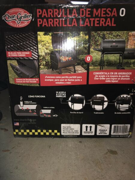 nib sealed char griller 250 sq inch tabel top charcoal grill e72424 Local Pickup