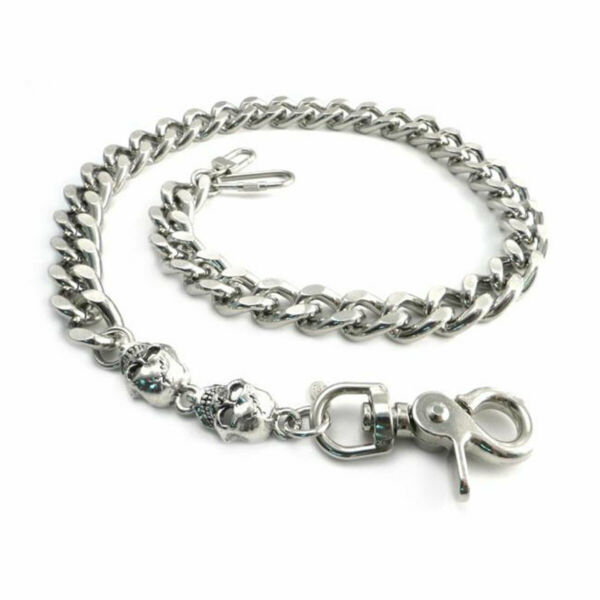 Amigaz Monster Skull amp; Leash Fashionable Wallet Chain Silver 25quot; $127.54