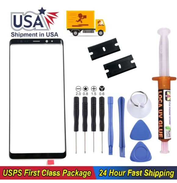 For Samsung Galaxy Note9 Front Glass Replacement Screen UV Glue Tools Kit