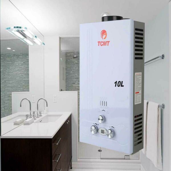 10L Water Heater 2.6 GPM LPG Gas Propane Tankless Instant Hot Boiler with Shower $91.99